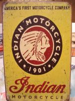 Retro Blechschild - Indian Motorcycles / America`s First Motorcycle Company