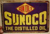 Retro Blechschild - Sun Oils / SUNOCO The Distilled Oil
