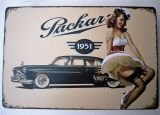 Retro Blechschild - Packard 1951 / Pinup