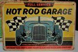 Retro Blechschild - FULL SERVICE / HOT ROD GARAGE - 32