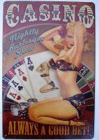 Retro Blechschild - Casino / Always a Good Bet!