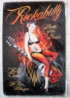 Retro Blechschild - Rockabilly, Battle of the Bands