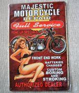 Retro Blechschild - Majestic Motorcycle Repair