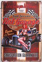Retro Blechschild - Rat Garage / Full Service