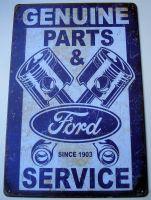 Retro Blechschild - Ford Genuine Parts & Service
