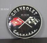 Retro Blechschild - Chevrolet Corvette / black