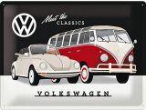 Blechschild Large - VW / Meet the Classics
