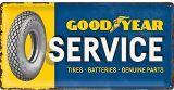 USA Retro Blechschild Lang - Goodyear / Service