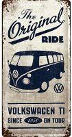 USA Retro Blechschild Lang - VW Bulli / The Original Ride