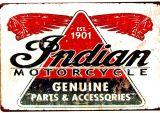 Retro Blechschild - Indian Motorcycle Genuine Parts & Accessoires