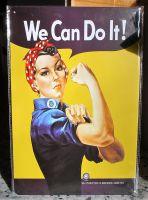 Retro Blechschild - We Can Do IT !