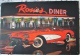 Retro Blechschild - Rosie`s Diner