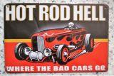 Retro Blechschild  - Hot Rod Hell