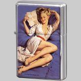 Feuerzeug Pin-up Girl mit Brief / 80218