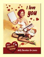 Magnet - Pinup  I Love You Chocolate / 14261