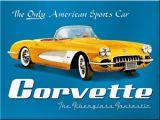 Magnet - Yellow Corvette / 14271