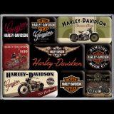 Magnet Set. - Harley-Davidson Bikes