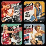 Nostalgie Blechuntersetzer - Best Garage