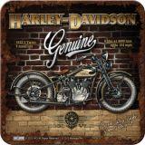 Nostalgie Blechuntersetzer - Harley Davidson Brick Wall
