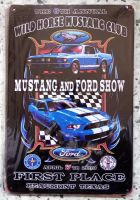 Retro Blechschild - Mustang and Ford Show