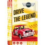 Blechschild mittel - Mini Drive the Legend