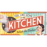 USA Retro Blechschild Lang - Kitchen