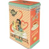 Blech Verschluss Vorratsdose - Tea It's Like A Hug in a Cup