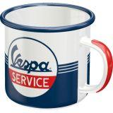 Emaille Tasse / Vespa Service