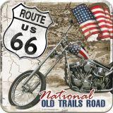 Nostalgie Blechuntersetzer - Route 66 / Desert Old Trails Road