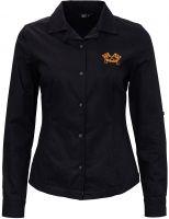 Damen Bluse von Queen Kerosin - Motor Service / schwarz