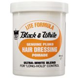 Pomade - Black & White - Lite Formula / Hair Dressing Pomade