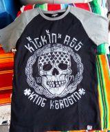 King Kerosin Raglan T-Shirt - Kickin Ass  schwarz/grau