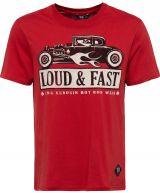 King Kerosin Regular T-Shirt / Loud & Fast - Rot