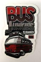 Vintage Sticker- Bus Junkies / klein