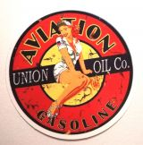 Pin up Sticker - Aviation Gasoline / klein