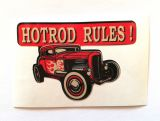 King Kerosin Sticker Hot rod Rules /klein