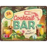 Blechschild Large - Cocktail Bar