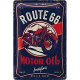 Blechschild mittel - Route 66 Motor Oil