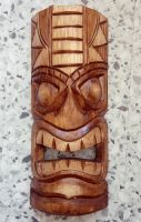 Tiki Holz Masken / Klein - Tiki Nr.1