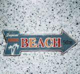 Retro Blechschild - BEACH / Tropical Paradise - 50m.
