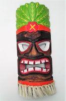 Tiki Holz Masken / Klein - Tiki Nr.5 / farbig