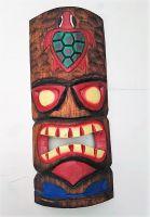 Tiki Holz Masken / Klein - Tiki Nr.6 / farbig