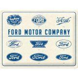 Blechschild Large - Ford Motor Company Logos