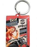 Schlüsselanhänger - Best Garage / rot