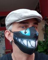 Stoff Maske - Horror Zähne / schwarz