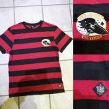 King Kerosin Slub Jersey T-Shirt - Crow, Loud & Fast / schwarz-rot gestreift