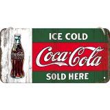 Blech Hängeschild - Coca Cola / Ice Cold Sold Here
