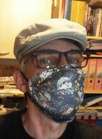 Stoff Maske - Igel mit Filter