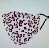 Stoff Maske - Leopardenmuster / rosa mit Filter