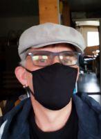 Stoff Maske - Schwarz mit Filter